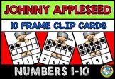 JOHNNY APPLESEED ACTIVITY KINDERGARTEN (TEN FRAMES CLIP CARDS) SEPTEMBER CENTER
