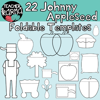 JOHNNY APPLESEED:  Foldables, Interactives, Flip Book Templates