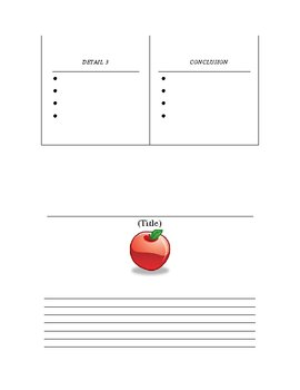 JOHNNY APPLESEED WRITING LESSON