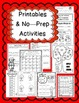 JOHNNY APPLESEED'S MATH { CENTERS & NO-PREP PRINTABLES }