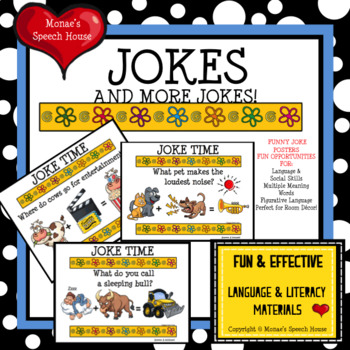 JOKES Posters Room Decor Figurative Language Speech Therapy