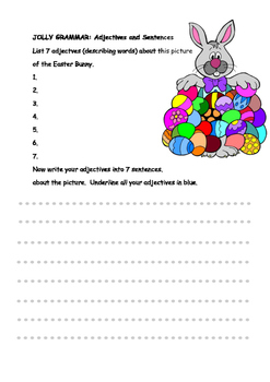 GRAMMAR- EASTER ADJECTIVES AND SENTENCES