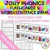 JOLLY PHONICS ALL SETS (1-7) Flashcards and word-sentence bank MEGA BUNDLE