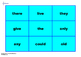 PHONICS TRICKY WORDS TIC TAC TOE GAMES