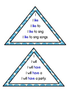 Tricky Words Fluency Triangles