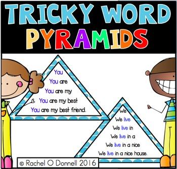 Tricky Words Fluency Pyramids