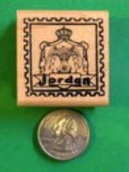 JORDAN Country/Passport Rubber Stamp