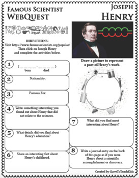JOSEPH HENRY - WebQuest in Science - Famous Scientist - Differentiated