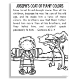 JOSEPH'S COAT OF MANY COLORS Bible Story Coloring Page | Religious Craft