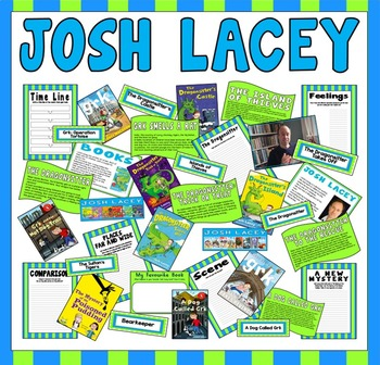 JOSH LACEY TEACHING DISPLAY RESOURCES ENGLISH READING AUTHOR DRAGONSITTER DOG