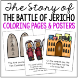 JOSHUA AND THE BATTLE OF JERICHO Bible Story Coloring Pages and Posters, Craft