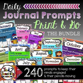 JOURNAL PROMPTS - 12 MONTH MEGA BUNDLE