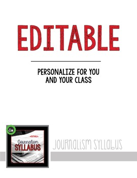JOURNALISM SYLLABUS, editable