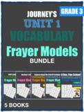 JOURNEY'S GRADE 3 UNIT 1 VOCABULARY FRAYER MODEL BUNDLE