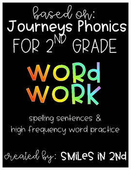JOURNEYS 2nd Grade Spelling & High Frequency Word Practice
