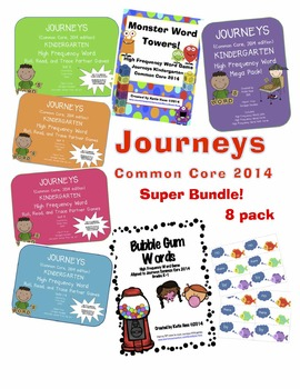JOURNEYS Common Core 2014 High Frequency Word SUPER BUNDLE 8-PACK!!!!!