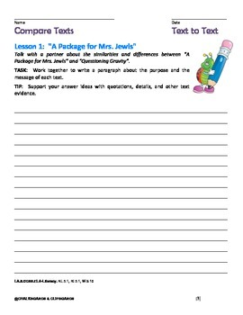 JOURNEYS Common Core, Grade 5:  Compare Text