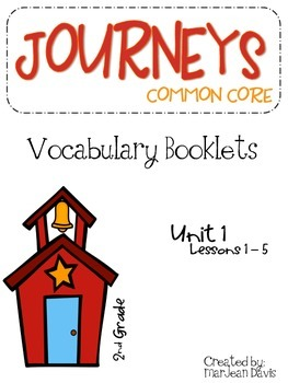 JOURNEYS Common Core - Vocabulary  Freebie - Lesson 1