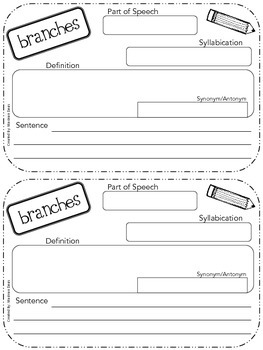 JOURNEYS Common Core - Vocabulary  Unit 2