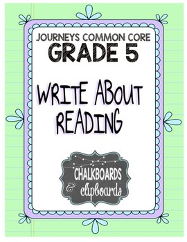 JOURNEYS Common Core, Grade 5: Write About Reading