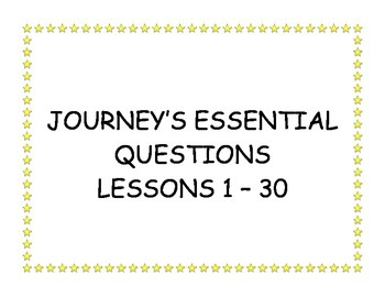 JOURNEY'S ESSENTIAL QUESTIONS, SKILLS AND STRATEGIES