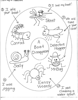 JOURNEYS FIRST GRADE: LESSON 29-A BOAT DISAPPEARS/CHARACTER MAP/CAUSE AND EFFECT