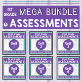 JOURNEYS FIRST GRADE - MEGA BUNDLE  2011 & 2017 - Pre & Post Assessments