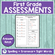 JOURNEYS FIRST GRADE Unit 1 Pre & Post Assessments