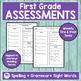 JOURNEYS FIRST GRADE Unit 1 Pre & Post Assessments
