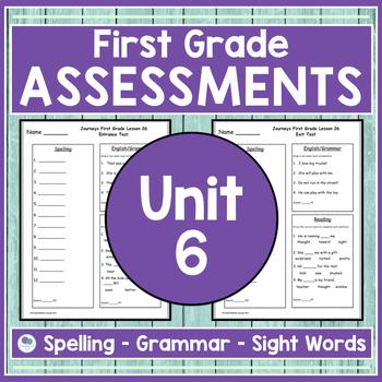 JOURNEYS FIRST GRADE Unit 6 Pre & Post Assessments