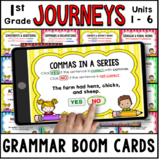 JOURNEYS First Grade Grammar Units 1 - 6 Boom Cards   Digital Task Cards
