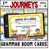 JOURNEYS First Grade Grammar Units 1 - 6 Boom Cards   Digi