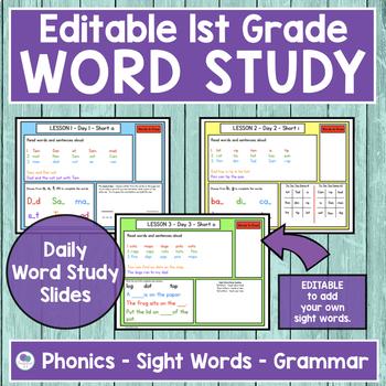 JOURNEYS First Grade Sight Word, Phonics & Spelling Word Study - UNIT 1