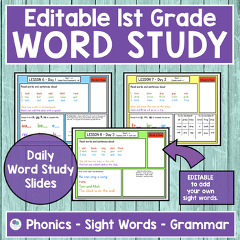 JOURNEYS First Grade Sight Word, Phonics & Spelling Word Study - UNIT 2