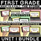 JOURNEYS First Grade Unit 1 Grammar Boom Cards   Digital T