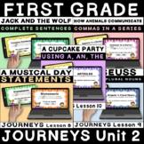 JOURNEYS First Grade Unit 2 Grammar BOOM Cards / Digital Task Cards