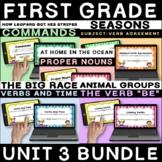 JOURNEYS First Grade Unit 3 Grammar   BOOM Cards   Distanc