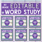 FIRST GRADE WORD WORK BUNDLE