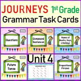 JOURNEYS Grade 1 - Unit 4 Grammar Task Cards/Scoot Bundle