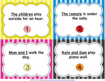 JOURNEYS Grade 1 - Unit 5 Grammar Task Cards/Scoot Bundle