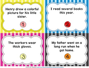 JOURNEYS Grade 3 - Unit 4 Grammar Task Cards/Scoot Bundle