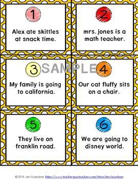 JOURNEYS Grammar Scoots or Task Cards - Second Grade Units 1-6 Bundle