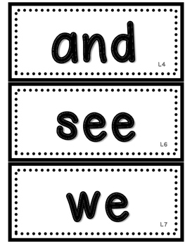 JOURNEYS Kindergarten Sight Words~ 88 Wall Cards~ Lesson Listed on Each Card!
