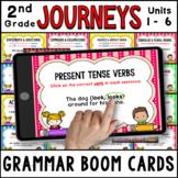 JOURNEYS Second Grade Grammar Units 1 - 6 Boom Cards / Dig