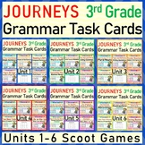 JOURNEYS Third Grade Grammar Task Cards/SCOOTS Units 1-6