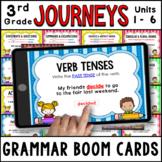 JOURNEYS Third Grade Grammar Units 1 - 6 Boom Cards   Digi