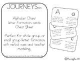 JOURNEYS letter rhymes for letter formation