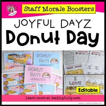 JOYFUL DAYZ (Staff Morale Boosters) DONUT DAY