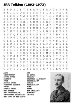 JRR Tolkien Word Search