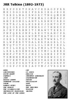 JRR Tolkien Word Search